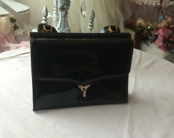 Little Black Patent Leather Purse