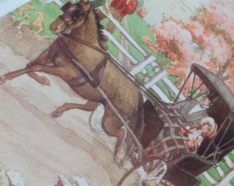 Antique book plates, Victorian Era Art Prints,  1902 Illustrations to frame,  Ruth Elizabeth Collings,  Victorian scenes