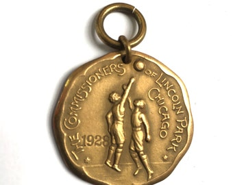 Lincoln Park Chicago Basketball Championship Medal