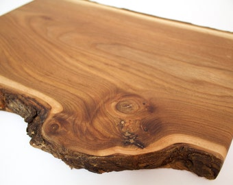 Live Edge Knotty Elm Cutting Serving Board - OOAK - Sustainable Harvest -  Timber Green Woods