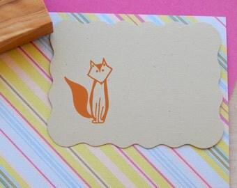 Mr Fox Olive Wood Stamp