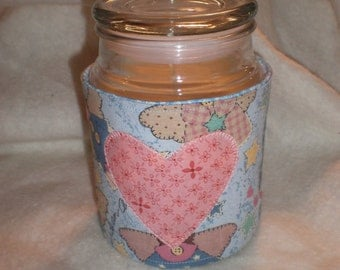 Angels Candle Cozy Quilted Cotton Candle Wrap Jar Candle Surround