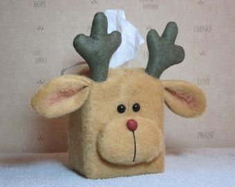 Reindeer Tissue Box Cover