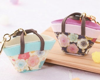 Diy Mini Flower Key Chain Charm Japanese Folk Art Fabric Kit Can