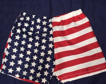 Little boys shorts 4th of july red white and blue celebrate