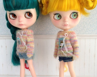 Colored Jelly Jam Sweater for Neo Blythe