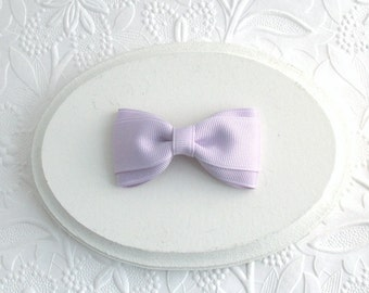 """Toddler Girls Lavender Hair Bow ~ Simple 3"""" Boutique Hair Bow Clip"""