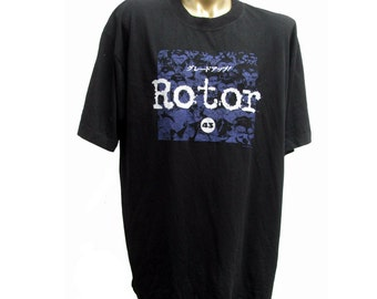 Rotor 43 Techno T-shirt Vintage Mens Industrial Strength Tee from 1992 Rare T-shirt One Size