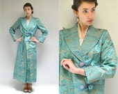 Silk Robe  //  Silk Brocade Jacket //  SWAN SONG
