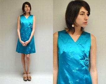 60s Silk Dress // Wrap Dress  //   THE SOPHIA