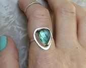Labradorite Sterling Silver Statement Ring