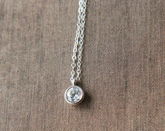 Silver Necklace,Sterling Silver Chain,Delicate Necklace,Dainty Necklace,Layering Necklace,Bride Necklace,Wedding Necklace,Bridesmaid Gift