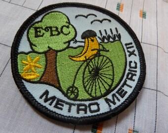 Vintage Bicycle Patch - Elmhurst Bicycle Club Metro Metric XII - Banana Pennyfarthing