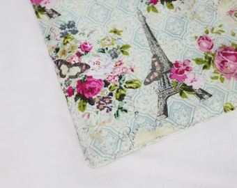 Paris Themed Waterproof Changing Pad - small