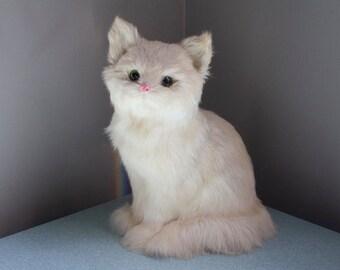 Rabbit Fur Faux Taxidermy Cat