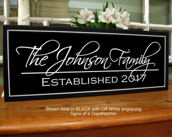 Family Name Sign, Last Name Sign, Family Established Sign, Family Plaque, Personalized Name Sign, Custom Name Sign, Photo Wall Decor, Carved