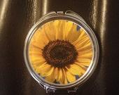 Sunflower image Compact Mirror -Handmade-FREE SHIPPING-