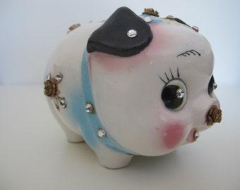 Rhinestone Pig Bank Etsy