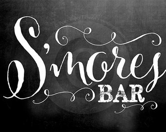 S'mores Chalkboard Sign
