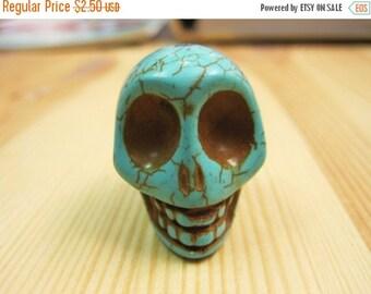 20% OFF ON SALE Blue Howlite Skull, 30mm, 1/Pk