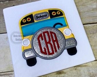 Chunky monogram school bus