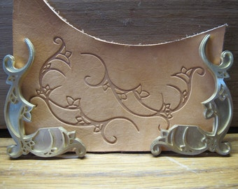 Bell Flowers Brass Embossing die for leather work and similar projects