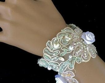 Lace Bridesmaid Bracelet, Lace Bridesmaid Jewelry, White Lace Bracelet, White Lace Jewelry, White Beaded Bracelet, White Beaded Jewelry