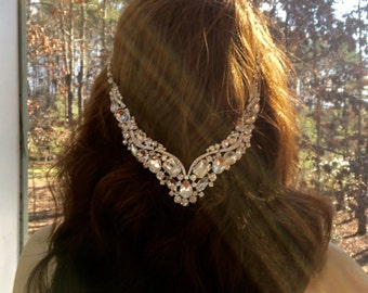 Romantic Bridal Jewelry, Romantic Bridal Headpiece, Romantic Bridal Headband, Romantic Wedding Jewelry, Romantic Wedding Headpiece