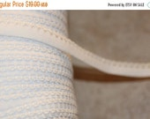 """ON SALE 10% off Lot Wholesale roll 144 yards WHITE Picot edged loop stretch doll craft elastic 3/8"""" inch"""