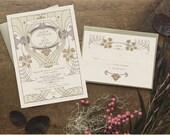 Lavender Wedding, Wedding Invitation, Spring Wedding, Wedding Invitation Set, Boho Wedding Invitation, Spring Wedding - Littleton