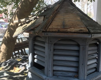 Salvaged Outdoor Cupola Weathered Wood