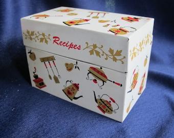 OHIO ART RECiPE BOX -!!     retro Vintage Dutch Kitchen design Metal File Card