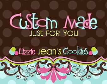 Edible Image - CUSTOM Cake, Cookies, Cupcake Topper