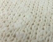 Ivory Cotton Sweater knit