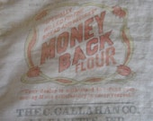Vintage Flour Advertising Sack Bag Callagan Co. Lafayette Indiana