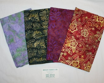 Tropical Botanic Batik Bundle 4+ Yards Imported From New Zealand