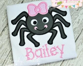 Spider 2 Bow Applique Design Machine Embroidery Design INSTANT DOWNLOAD