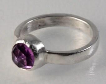 Rose cut Amethyst Ring