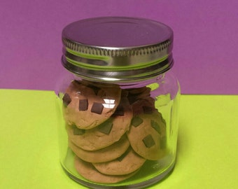 Cookie Jar with 12 cookies for American Girl or 18 inch doll food accessories, Chocolate Chip Cookies, Peanut Butter Cookies, Linzer Cookies