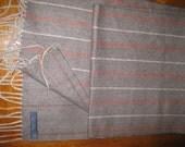 club room 100% cashmere scarf men's  beige orange