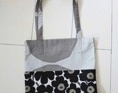Marimekko bag market bag unikko kivet tote handmade with Marimekko fabric