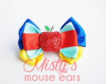 Inspired Snow White SLider Bow for Magicband