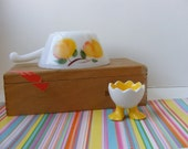 Vintage Egg Cup, Duck Egg Cup, Footed Egg Cup, Egg Cup with Feet, Egg Cup Duck Feet, Chicken Egg Cup, Easter Egg Cup, Easter Gift