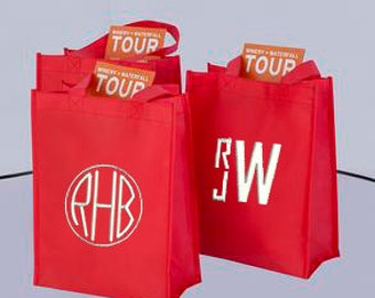 Monogrammed Bag, Personalized Tote Bag, Monogrammed Small Bag, Monogrammed Tote Bag, Gift Bag