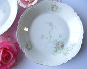 Vintage Hutschenreuther Bavarian Pink Blue Rose Soup Bowls Set of Two - Weddings Tea Parties