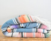 "Vintage Mexican Serape Blanket 45"" by 80"""