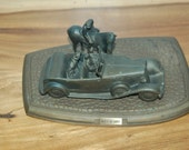"""Rare Limited Edition """"What's The Hurry"""" beautifully detailed 1931-33 Lebaron Phaeton sculpture made in 1988 for Chrysler Motors #50 of 1000"""