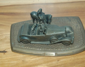 "Rare Limited Edition ""What's The Hurry"" beautifully detailed 1931-33 Lebaron Phaeton sculpture made in 1988 for Chrysler Motors #50 of 1000"