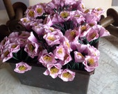 Vintage Millinery Flowers 14 Bouquets Pink Roses / Hats & Fascinators Vintage Wedding Something Old Paper Flowers