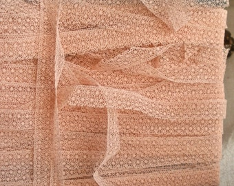 Vintage Pink Lace Trim. Antique Lace, Ballet Dolls... Pretty Pink Supplies, Home Decor. Old New Stock